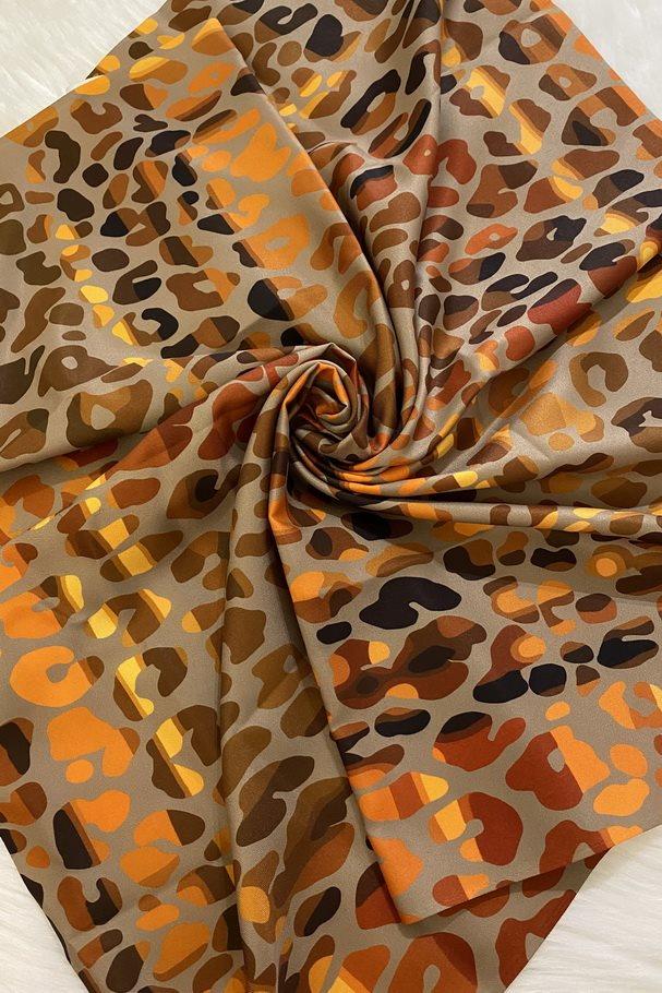 روسری کوچک - چهارخونه پلنگی