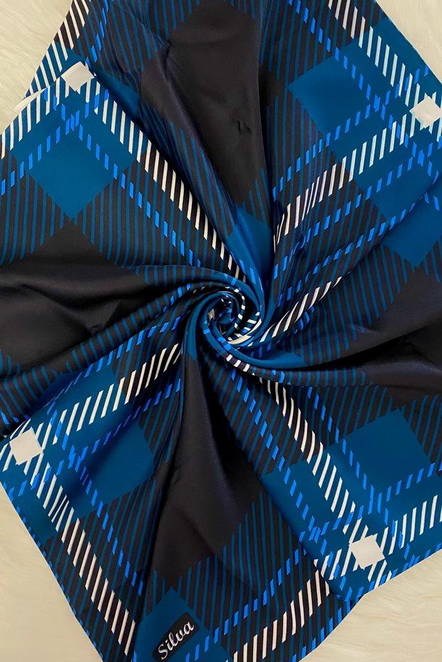 روسری کوچک - چهارخونه سورمهای